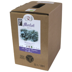 Vino naturale biologico Merlot 2019 Bag in box da 5 litri