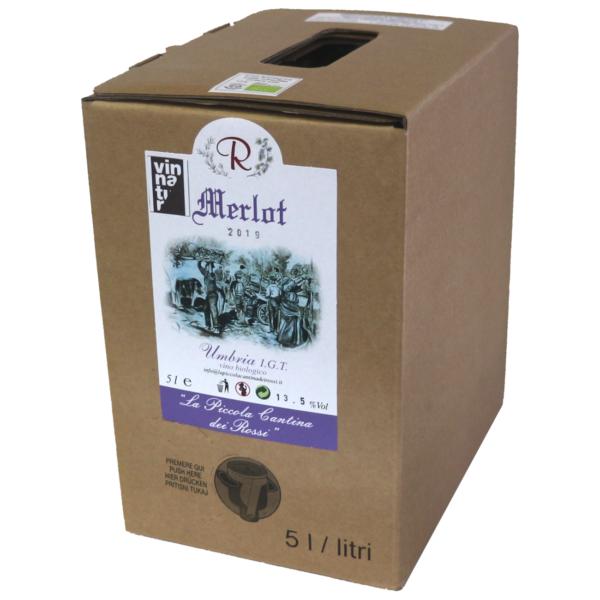 Merlot 2020 da uve di Merlot (rosso) in purezza Umbria IGT
