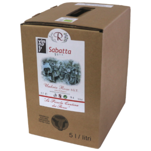 Vino rosso naturale biologico Sabatta 2019 Bag in box 5 litri