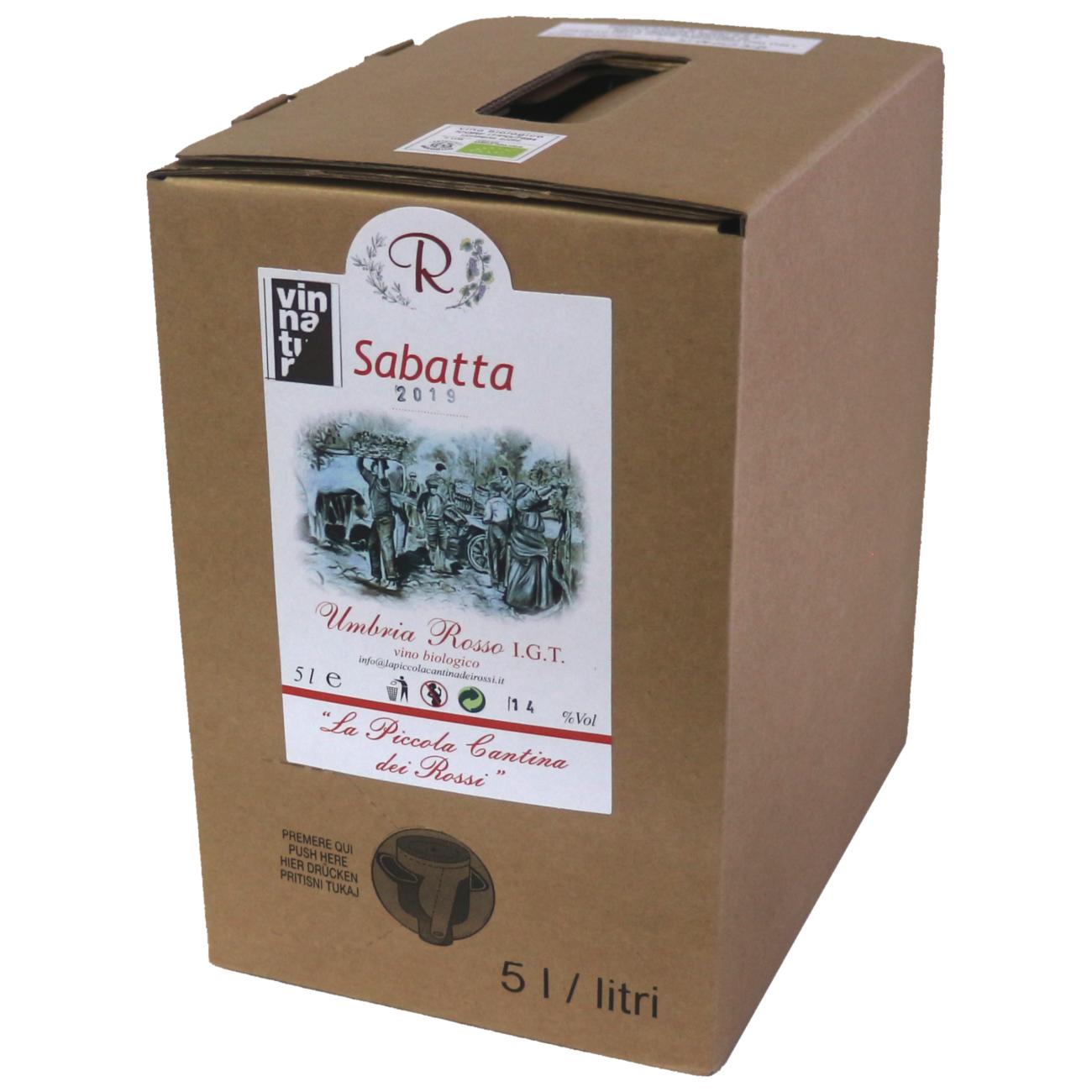 Sabatta 2019 da uve di Cabernet Sauvignon, Merlot, Sangiovese e Montepulciano d'Abruzzo Rosso Umbria IGT