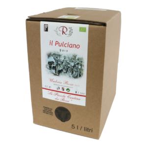 Il Pulciano 2019 da uve di di Montepulciano d'Abruzzo in purezza Rosso Umbria IGT Bag in box 5 litri
