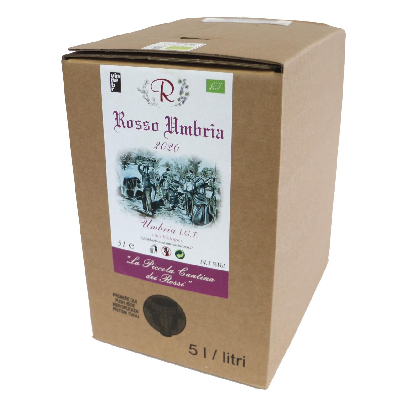 Rosso Umbria 2020 da uve di Montepulciano d'Abruzzo 50% e Sangiovese 50%  Rosso Umbria IGT